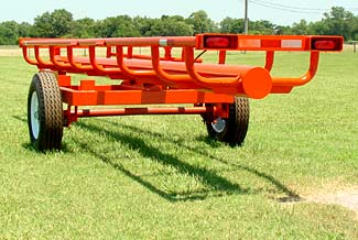 This is our 21� Four bale bumper pull model - Rear view
