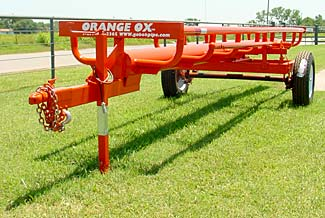 This is our 21� Four bale bumper pull model - Front view
