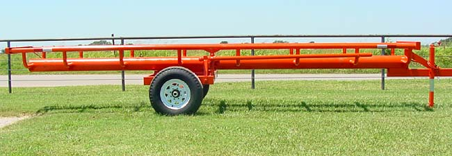 This is our 21� Four bale bumper pull model - Side view