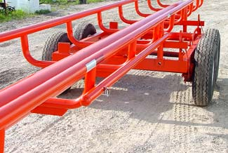 Orange Ox - Orange Ox Self Un-loading Hay Trailers - Both Latches